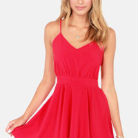 Lucy Love Penelope Red Dress
