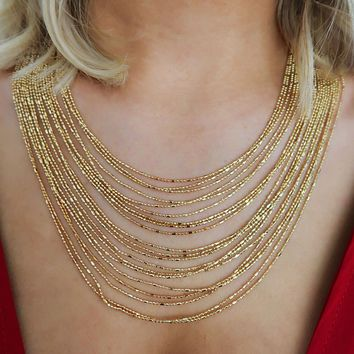 I've Got Layers Necklace: Gold