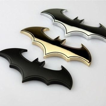Cool 3D Metal bat auto logo car sticker metal batman badge emblem tail decal DIY = 5987812929