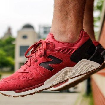 LMFON new balance 009 speckle suede clay red with supernova red
