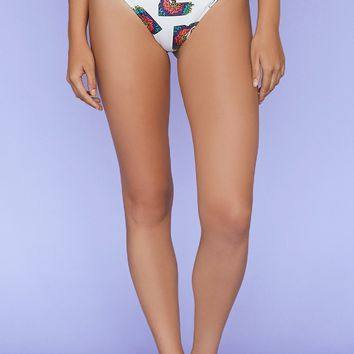 MTV Graphic High-Waisted Bikini Bottoms