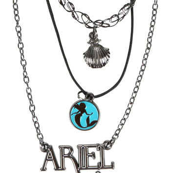 Disney The Little Mermaid Ariel Tattoo Choker Necklace Set