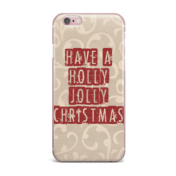 "Sylvia Cook ""Have A Holly Jolly Christmas"" Holiday iPhone Case"