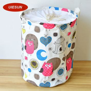 35x45cm Folding Night Owl Laundry Basket