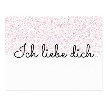 Ich Liebe Dich Postkarte ~ I Love You (German) Postcard