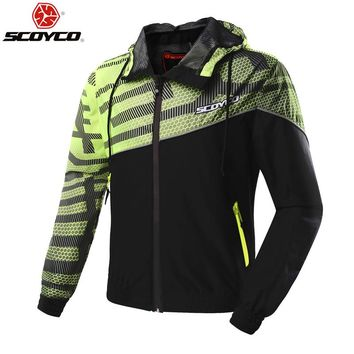 SCOYCO JK61 Motorcycle Jacket Chaqueta Moto Jaqueta Motoqueiro  Moto Homme Protection Gears Clothing Armor In the summer