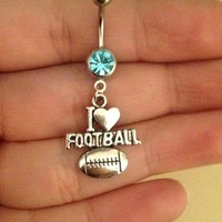 Football Belly Ring from Country Wind