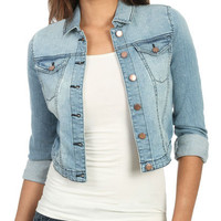 High Roll Cuff Denim Jacket | Shop Jackets at Wet Seal