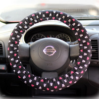 Steering Wheel Cover Bow Wheel Car Accessories Lilly Heated For Girls Interior Monogram Tribal Camo Cheetah Sterling Chevron Skulls Heart