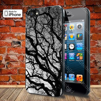Tree Silhouette Case For iPhone 5, 5S, 5C, 4, 4S and Samsung Galaxy S3, S4