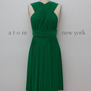 Shop Emerald Cocktail Dress on Wanelo