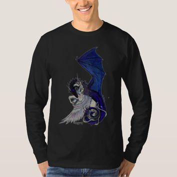Unicorn Dragon Blue White Pegacorn Horse Pony T-Shirt