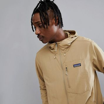 Patagonia Tezzeron Hooded Softshell Jacket in Beige at asos.com