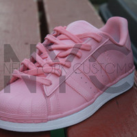 Pink Adidas Originals Superstar Two Tone Custom