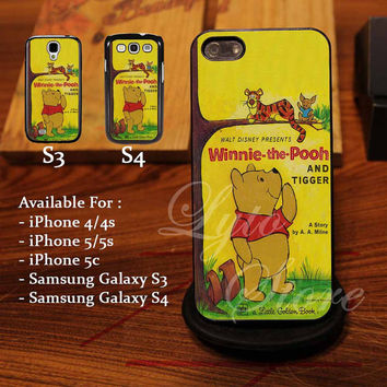 Winnie The Pooh Disney Book Design for iPhone 4, iPhone 4s, iPhone 5, Samsung Galaxy S3, Samsung Galaxy S4 Case