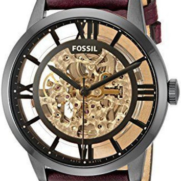 Fossil Original Men's Automatic Dark Brown Leather Watch 44mm
