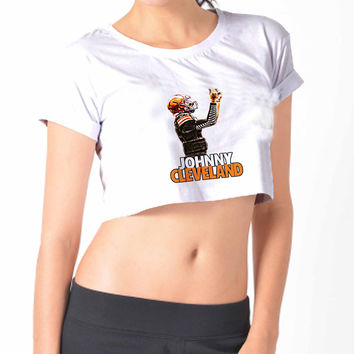 JOHNNY CLEVELAND 2 Crop Shirt , Custom Crop Shirt , Woman Crop Shirt