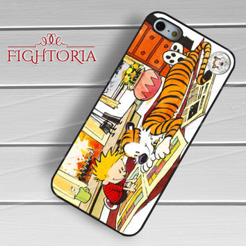 Calvin and Hobbes Cartoon - zzZzz for  iPhone 4/4S/5/5S/5C/6/6+s,Samsung S3/S4/S5/S6 Regular/S6 Edge,Samsung Note 3/4