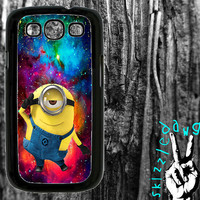 Despicable Me Minion Galaxy Space Samsung Galaxy S3 Cell Phone Case Cover Original Trendy Stylish Design