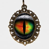 Dragon Eye Necklace Oval Pendant