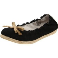 Nine West Women`s Wildthang Flat,Black/Natural,9 M US
