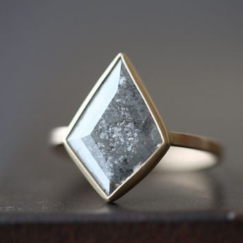 One of a Kind Natural Grey Diamond Ring