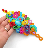 Fashion Unique Colorful Soutache Bracelet - Colorful Bracelet - Unique Embroidered Jewelry - Soutache Bracelet - Soutache Jewelry