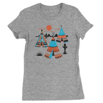Native American Teepee Tipi Southwest Womens T-shirt