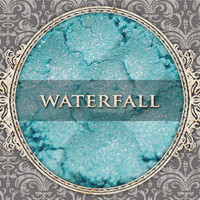 WATERFALL Mineral Eyeshadow: 5g Sifter Jar, Light Sky Blue, Vegan Cosmetics, Shimmer Eyeshadow