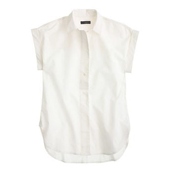J.Crew Womens Tall Short-Sleeve Popover Shirt