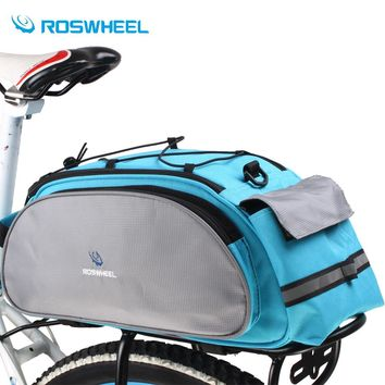 Roswheel Bicycle Bag Multifunction 13L Bike Tail Rear Bag Saddle Cycling Bicicleta Basket Rack Trunk Bag Shoulder Handbag