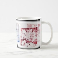 Avant-garde Art Artistic Blue Red Stamps Coffee Mug