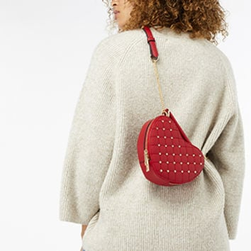 Accessorize | Studded Heart Cross Body Bag | Red | One Size | 4907716000