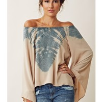 Blu Moon TIE DYE BILLOWY SLEEVE BLOUSE In Montana