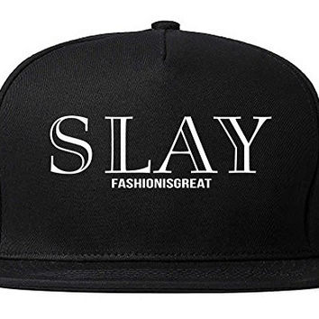 FASHIONISGREAT Slay Fashion Is Great Womens Snapback Hat Black