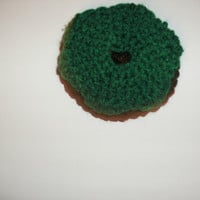 Handmade crocheted Doughnut ornament by CanadianCraftCritter