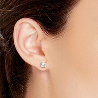 TruMiracle® Diamond Stud Earrings in 14k White Gold (3/4 ct. t.w.)