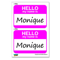 Monique Hello My Name Is - Sheet of 2 Stickers