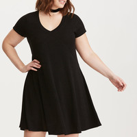 Hacci Knit Trapeze Dress