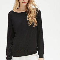 Ribbed Knit Raglan Top