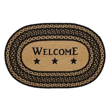 Farmhouse Welcome Oval Rug