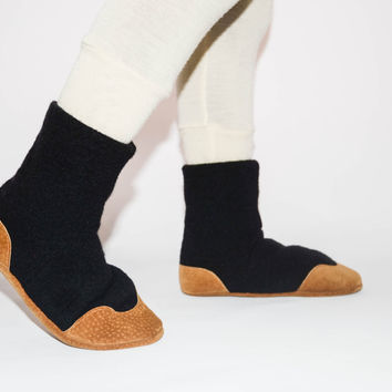 Children Cashmere Boots, Kids Cashmere Slipper Socks, Kids Wool Slippers, Eco Friendly Boots.Size:USA kids 7.5 to youth 2.5