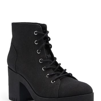 Canvas Lug Combat Booties