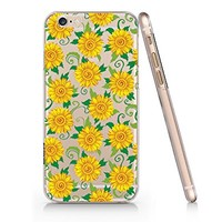 Sunflower Clear Transparent Plastic Phone Case for iphone 6 6s _ SUPERTRAMPshop