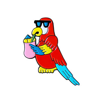 Cool Parrot Enamel Pin