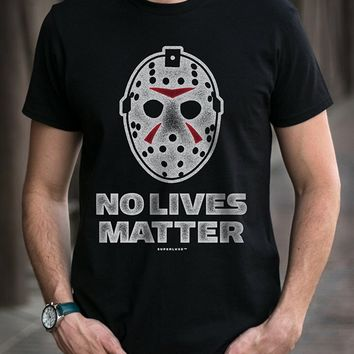 Mens No Lives Matter Skier Mask T-Shirt Loose Cotton T-Shirts for Men Cool Tops T Shirts Summer The New Fashion Top Tee