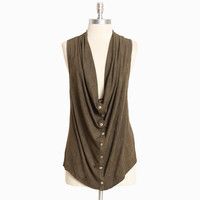 cypress leaf draped vest - $33.99 : ShopRuche.com, Vintage Inspired Clothing, Affordable Clothes, Eco friendly Fashion