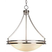 CONTEMPORARY CHANDELIER CEILING FIXTURE WITH FIVE 13 WATT GU24 TYPE FLUORESCENT LAMPS, 20-5/8 IN.