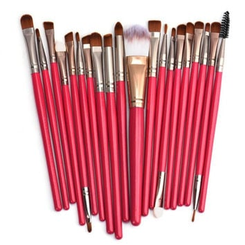 Hot!!! Best Deal 2016 New Arrival Hot Sale Soft Women Girl 20pcs Makeup Brush Set tools Toiletry Kit Wool Make Up Brush Set