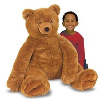 Melissa & Doug Jumbo Brown Teddy Bear